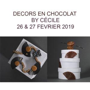 Décors en Chocolats fevrier